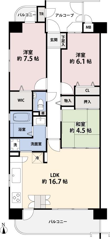 シャトレ愛松岩倉3