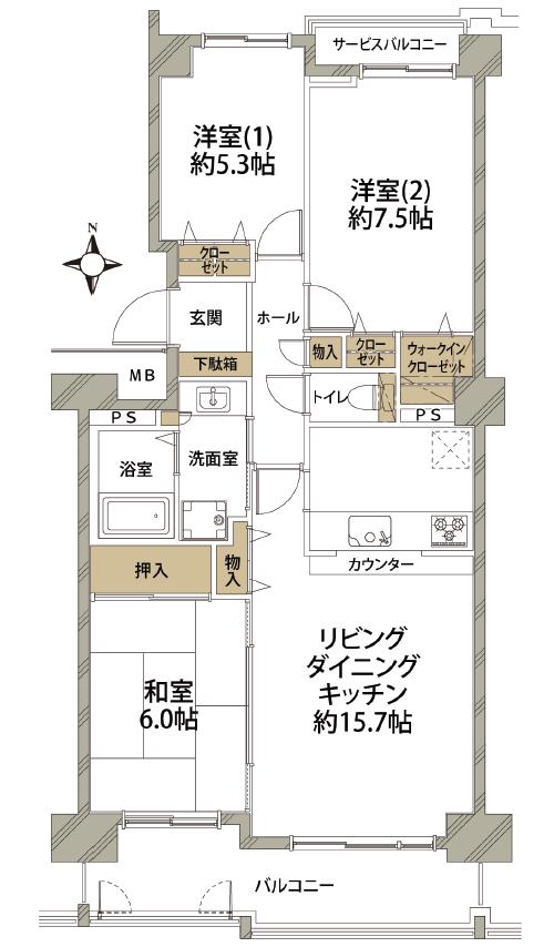 グリーンコモンズ川越弐号棟